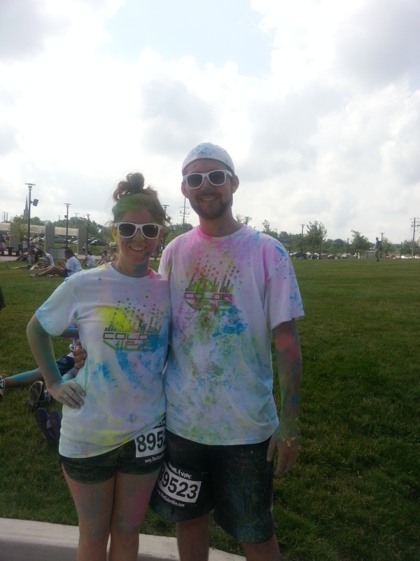 Color Vibe 5k! My boyfriend Miguel's first 5k he ran with me. July 2013